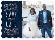 Into the Woods Foil-Pressed Save The Date Cards