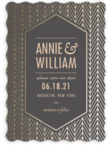 Elegant Charm Foil-Pressed Save The Date Cards