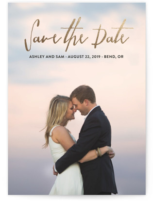 Everlasting Foil-Pressed Save the Date Cards