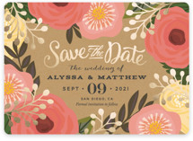 Floral Canopy Foil-Pressed Save The Date Cards