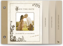 Story Book Save the Date Minibook™ Cards