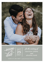 Sweet & Modern Save the Date Petite Cards