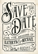 Inked Save the Date Petite Cards