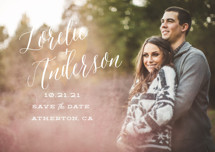 Watercolor Heart Save the Date Petite Cards
