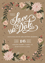 Cottage Florals Save the Date Petite Cards
