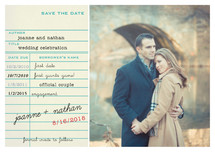 Library Card Save the Date Petite Cards