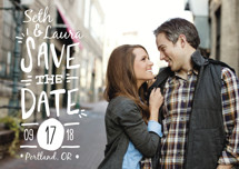 Casual Calligraphy Save the Date Petite Cards