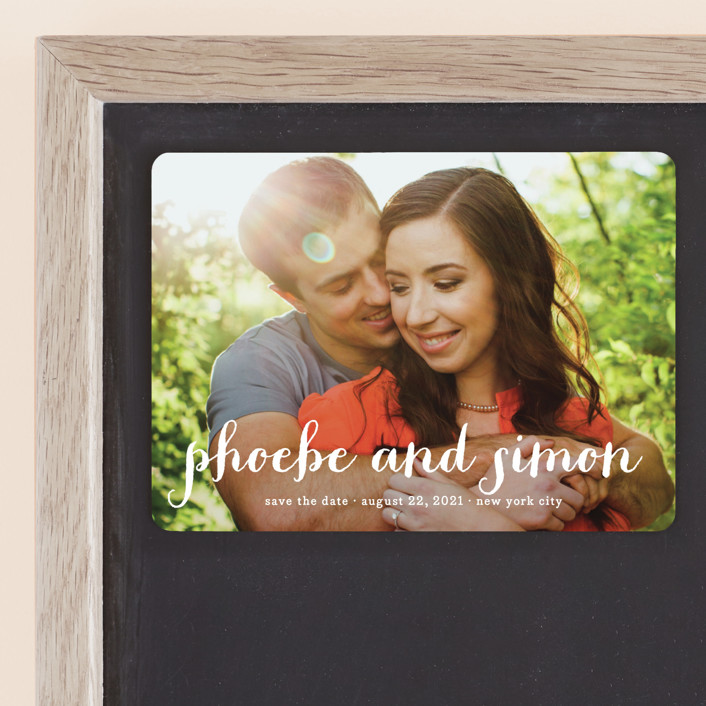 """""""Prescott"""" - Full-Bleed Photo, Simple Save The Date Magnets in Cotton by roxy."""