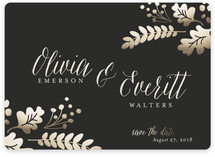 Gold Leaf Save the Date Magnets