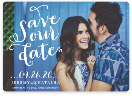 Swirly Save the Date Magnets