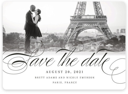 Clean Script Save the Date Magnets