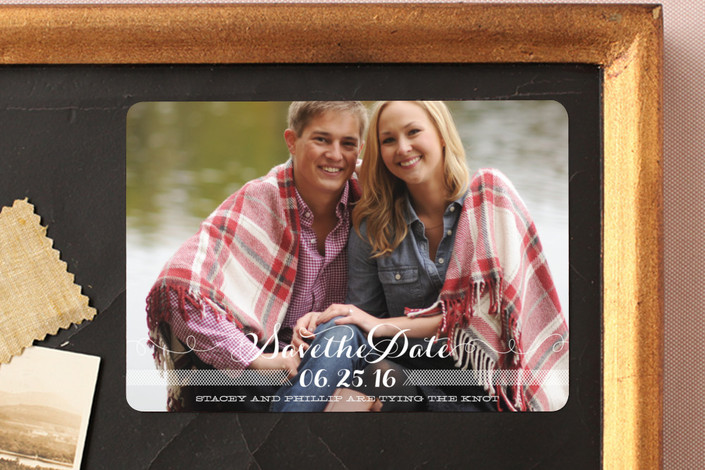 """Ties that Bind"" - Full-Bleed Photo, Classical Save The Date Magnets in Cotton by Guess What Design Studio."