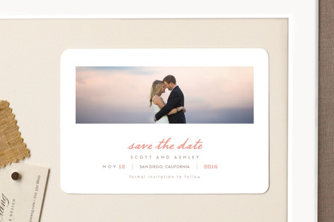 Neapolitan Save The Date Magnets