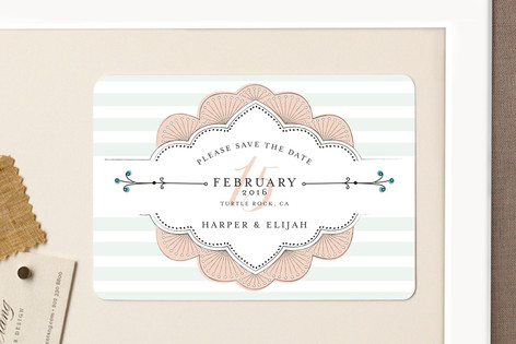 Striped Sweet Nothings Save The Date Magnets