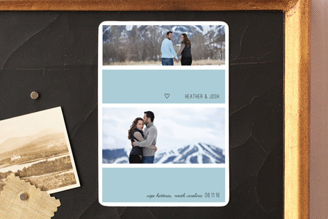 Bold Stripe Save The Date Magnets