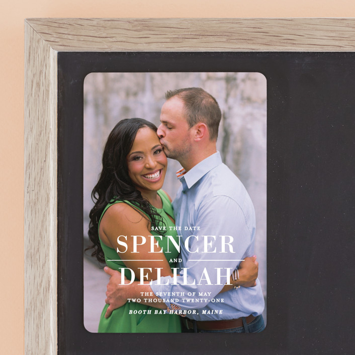 """Effortless"" - Full-Bleed Photo, Modern Save The Date Magnets in Frost by Lauren Chism."