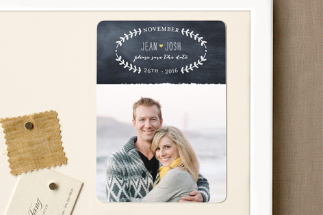 Oval Love Save The Date Magnets