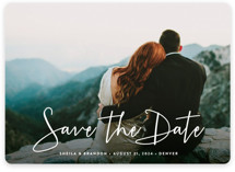 Stylish Script Save The Date Magnets