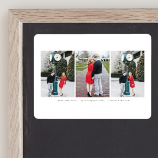 Triptych Save The Date Magnets