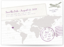 A Faraway Destination Save the Date Postcards