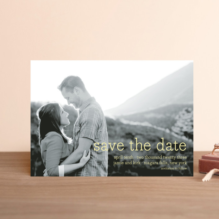 """""""Simply in Love"""" - Full-Bleed Photo, Simple Save The Date Postcards in Blizzard by annie clark."""