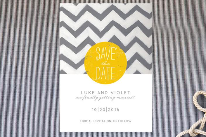 """My Sunshine"" - Bold typographic, Modern Save The Date Postcards in Sunshine by Susie Allen."