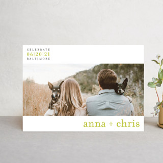 float + celebrate Save The Date Postcards
