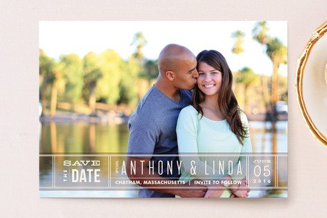 Silver Screen Save The Date Postcards