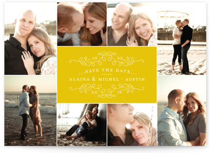 Classic Collage Save the Date Postcards