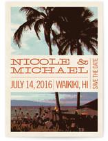 Coconut Plantation Save The Date Postcards