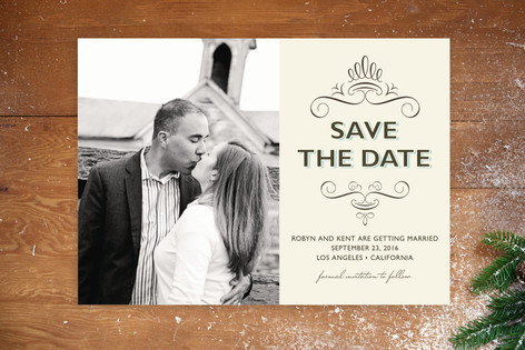 Simple Chic Save The Date Postcards