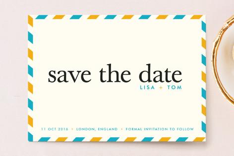 float + aerogram Save The Date Postcards