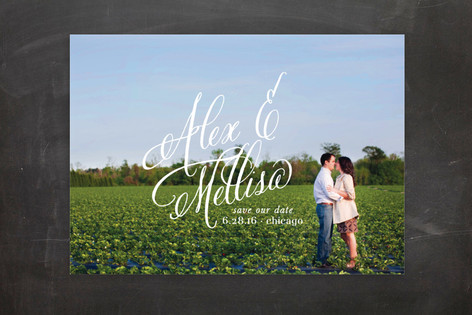 Timeless Bold Typography Save The Date Postcards