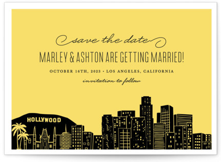Big City - Los Angeles Save the Date Postcards