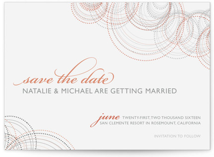 Intricate Save the Date Postcards