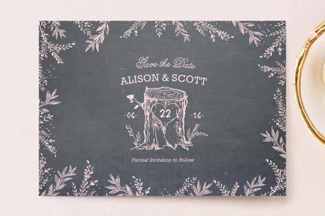Woodland Romance Save The Date Postcards