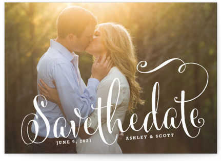 Modern Romance Save the Date Postcards