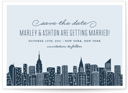 Big City - New York Save the Date Postcards
