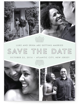 Mod Deco Save the Date Postcards