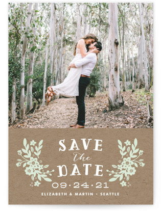 Ampersand Floral Save the Date Cards