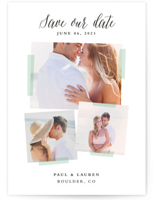 Photo Overlay Save the Date Cards