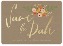 Tiny Flower Bunch Save the Date Cards
