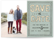 Vintage Hand Lettering Save The Date Cards