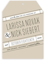 On A Slant Save The Date Cards