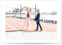Between The Lines Save The Date Cards