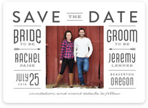 Bride And Groom Save the Date Cards