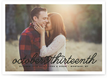 Cursive Heart Save The Date Cards