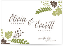 Gold Leaf Save The Date Cards