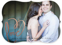 Love + Heart Save The Date Cards