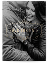 Parisian Café Save the Date Cards